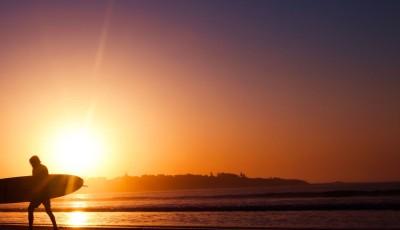 Surfer in Sun